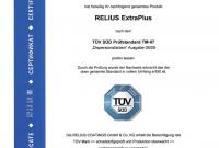 Relius - Extra Plus E.L.F. - Zertifikat